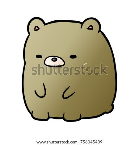cute cartoon sad bear