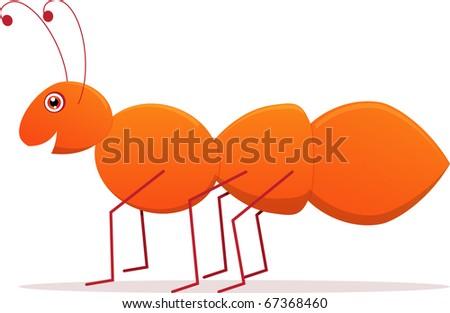 Cute Ant Logo Cute Cartoon Vector Ant