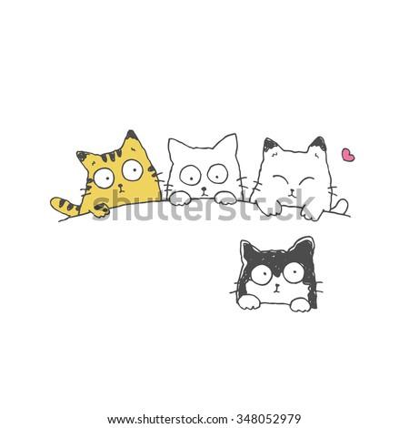 Cute Cat kitten Pet, vector illustration cartoon. - stock vector