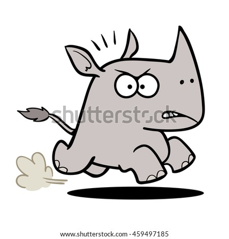 Charging rhino stock photos images amp pictures shutterstock