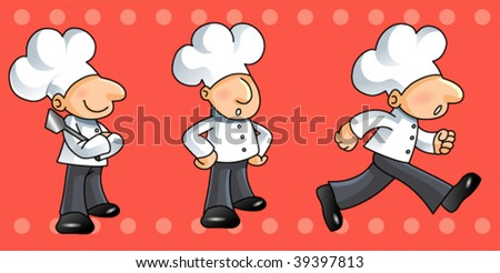 cute chef - stock vector