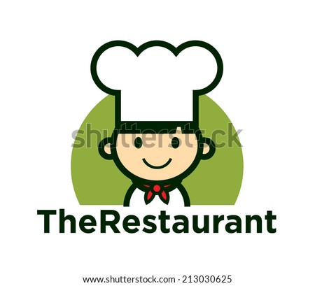 Cute Chef Character icon, vector - stock vector