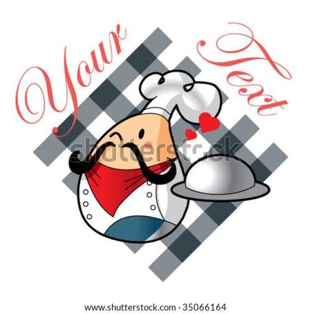 cute chef icon 2 - stock vector