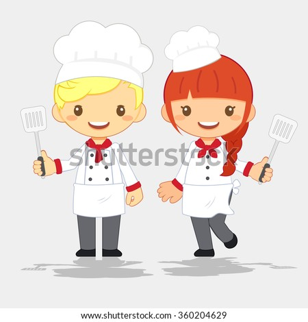 Cute Chef, vector illustration - stock vector
