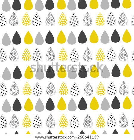 Cute childish pattern with drops - stock vector