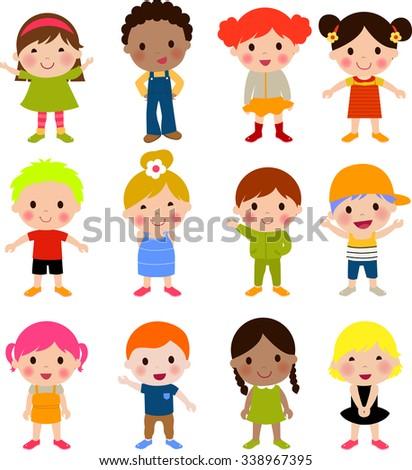 cute children cartoon collection - Free Children Cartoon