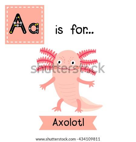 Cute Children Zoo Alphabet Letter Tracing Stock Vector 434109811 ...