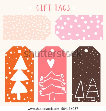 cute christmas and new year gift tags printable template of a gift labels