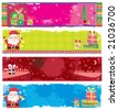 Cute Christmas banners. To see similar, please VISIT MY GALLERY. - stock vector