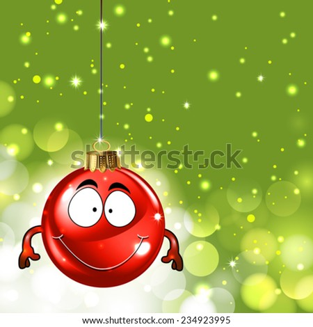 Cute christmas ornament background - stock vector