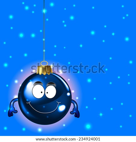 Cute christmas ornament for your text - stock vector