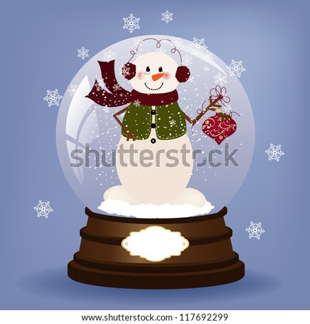 Cute christmas postcard template blank