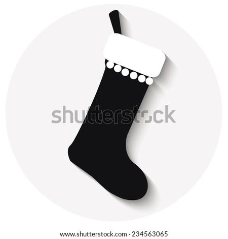 Cute Christmas Socks set - vector cartoon Illustration - stock vector