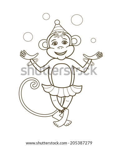 carnival monkey coloring pages - photo#29