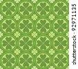 cute clovers pattern - stock vector