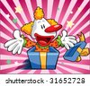 cute clown zoom out - stock vector
