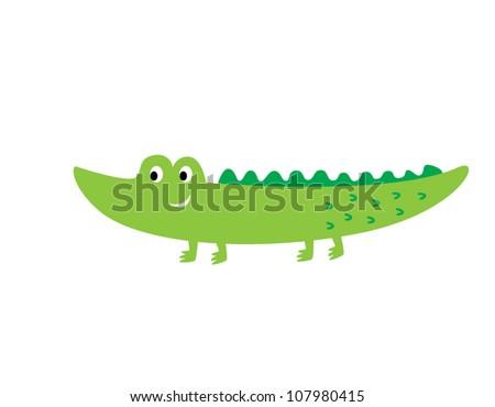cute crocodile - stock vector