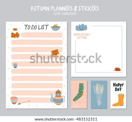 Cute Daily Calendar Do List Template Stock Vector Hd Royalty Free