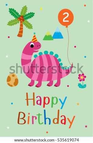 Greeting Cards Bears Birthday Dinosaur