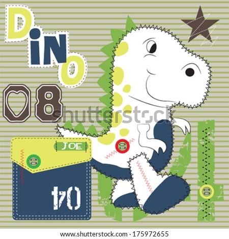 cute dinosaur vector illustration - stock vector