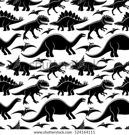 Cute dinosaurs pattern for seamless background.