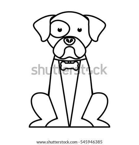 cute dog mascot isolated icon vector illustration design
