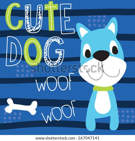 cute dog vector illustration - stock vector
