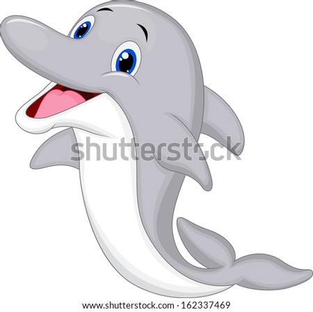 Dolphin cartoon images black and white dress