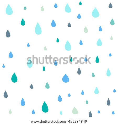 Cute drop vector seamless pattern