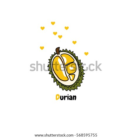 cute durian vector