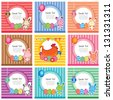 cute easter cards - stock vector