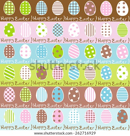 Cute Easter wrapping paper pattern - stock vector