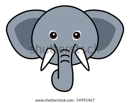 Cute Elephant Vector - stock vector