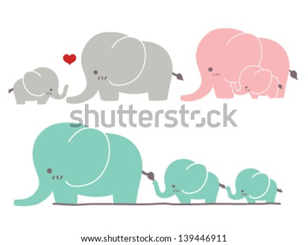Cute Elephant - Vector File EPS10 - stock vector