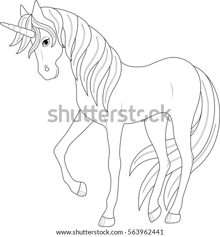 Cute Fairy Unicorn Coloring Page