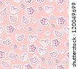 Cute feminine seamless pattern - stock vector