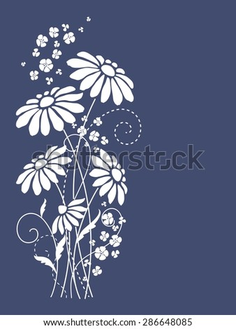 Cute floral card  - stock vector