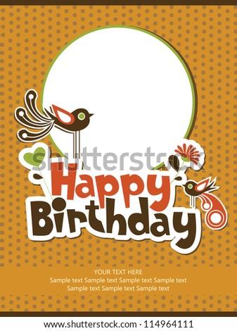 cute floral card design. vector illustration - stock vector