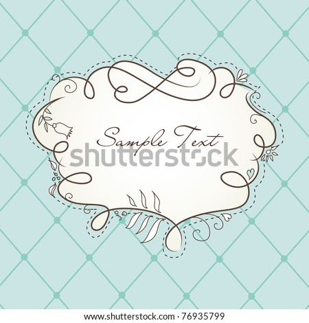Cute Floral Frame - stock vector