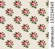 cute floral pattern design. vector illustration - stock vector