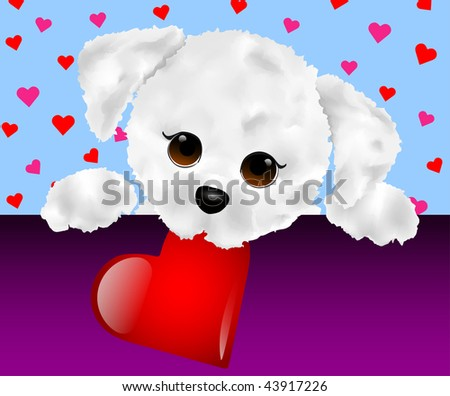 Cute Fluffy Puppy Valentine