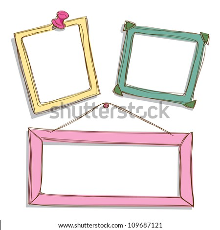 cute frame - stock vector