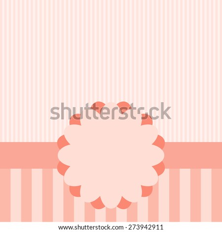 Cute frame design and card. - stock vector