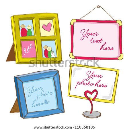 cute frame doodle - stock vector