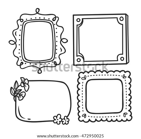 Cute Frame Doodle Style 472950013 on industrial design interiors