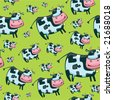 Cute friendly cow pattern.  To see similar, please VISIT MY GALLERY.   - stock vector