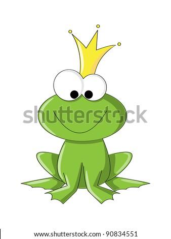 Cute frog princess or prince - stock vector