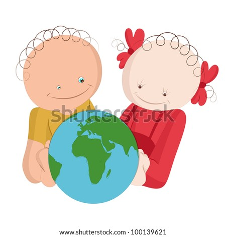 Cute Funny Kids Education Concept - stock vector