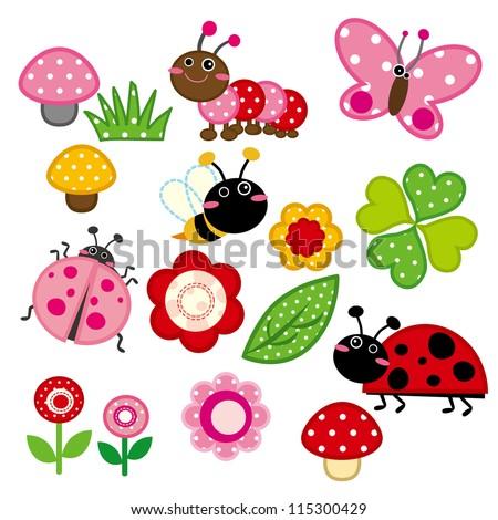 Cute Garden Insect - stock vector