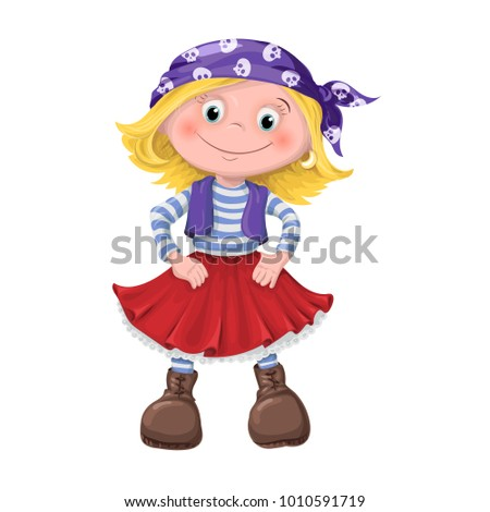 cute girl, children pirate